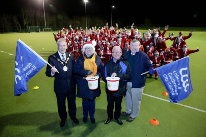 Families Gather for Lisburn & Castlereagh Santa Dash