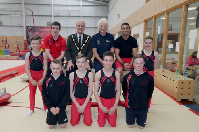 Mayor Wishes Gymnasts a Successful Italian Training Camp