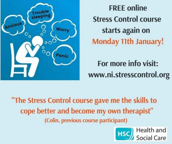 Public Health Agency to run free online stress control classes