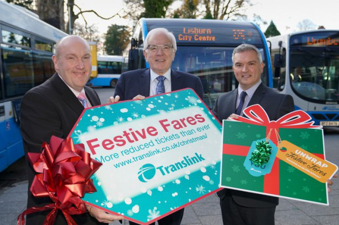 Translink unwraps festive travel package for Lisburn