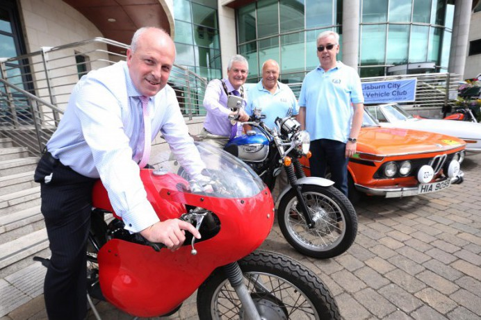 Vintage Cars and Bikes Bring a Touch of Ulster Grand Prix Nostalgia to the City