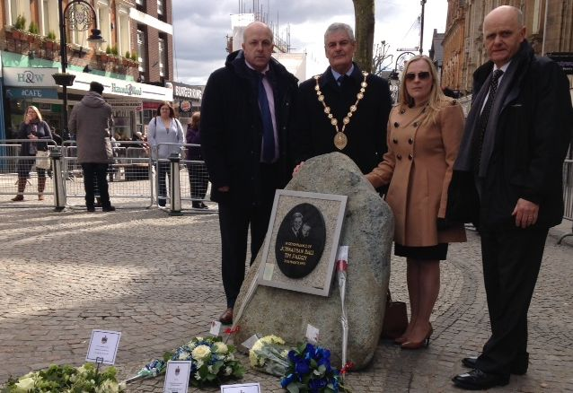 Council delegation attends 25th Anniversary Warrington Memorial Service
